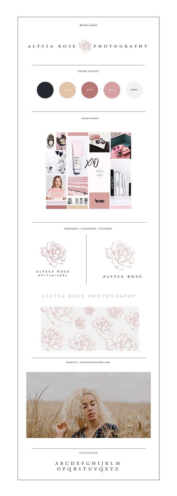 Photography Branding Design for Alyssa Rose Photography - By Designed by Eden | www.designedbyeden.com