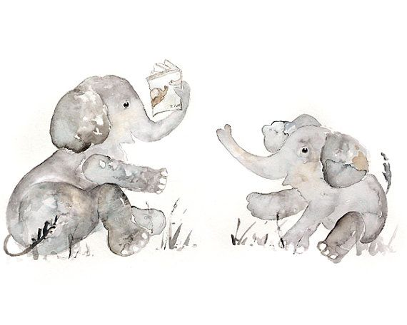 Nursery Art Nursery Print Elephant nursery by LightheartedDreamer, $17.00