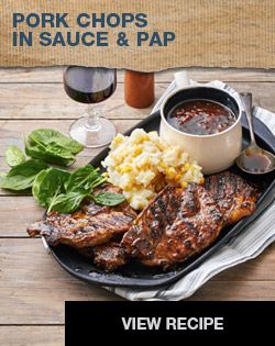 Pork Chops in Sauce & Pap