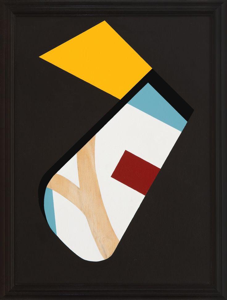 """Serge Alain Nitegeka, """"Field Configuration V"""" (2015), paint on wood, 73 x 55cm"""