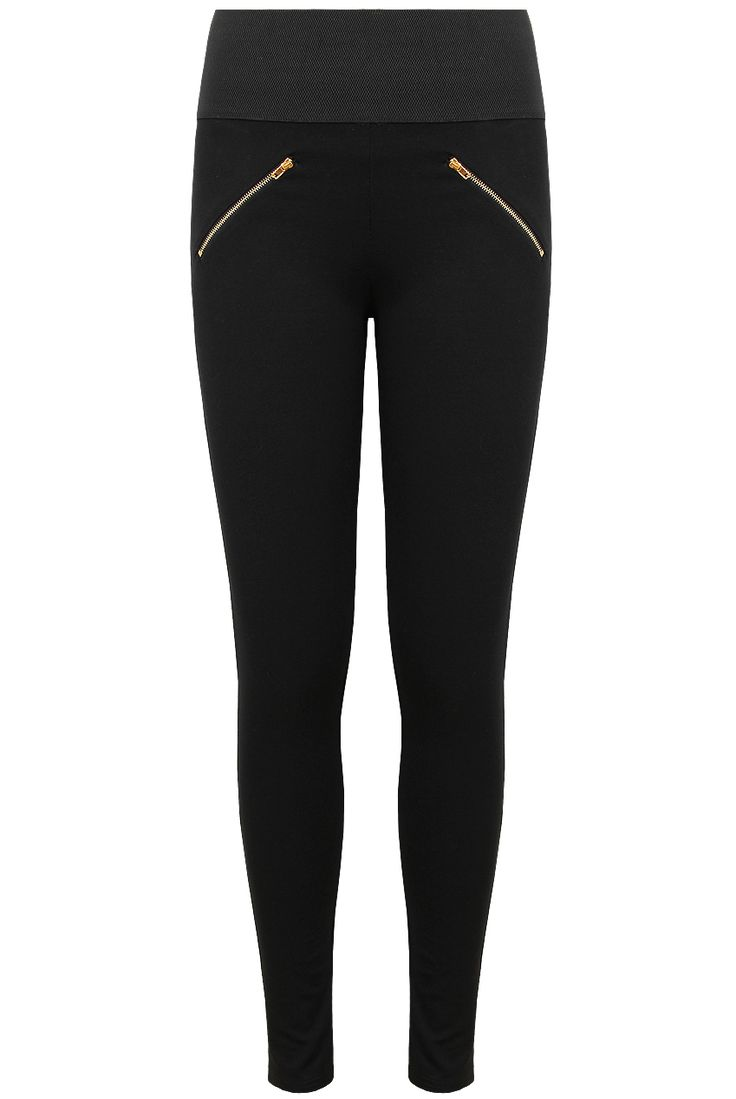 NEW IN :: Love Black Zip Ankle Fastened Double Pocket Leggings