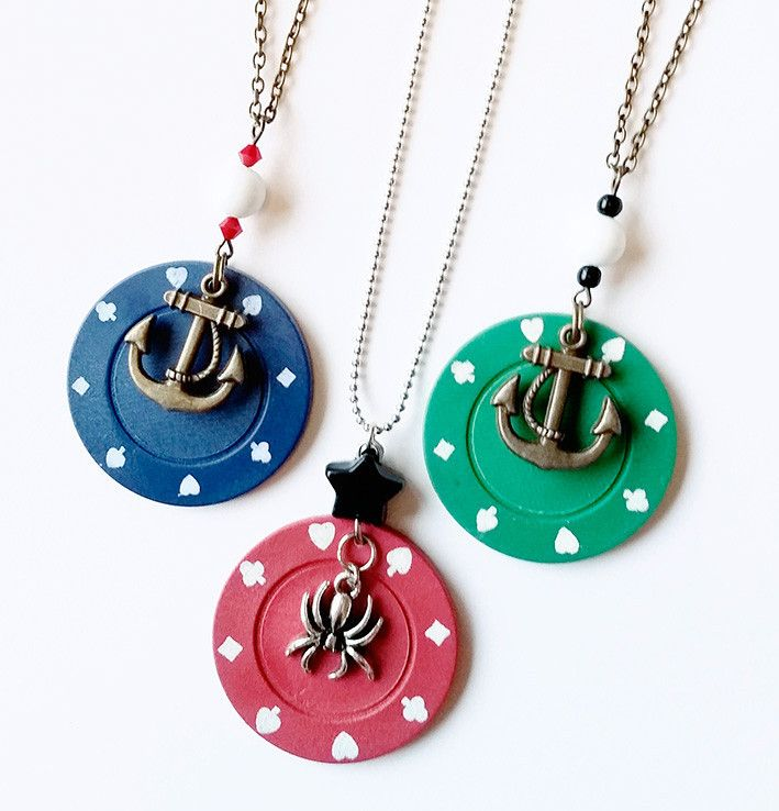 Poker themed jewelry