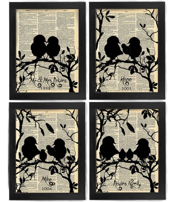 Your Family Tree, Love Bird Family, Antique Dictionary Page, Book Page, Nerdy…