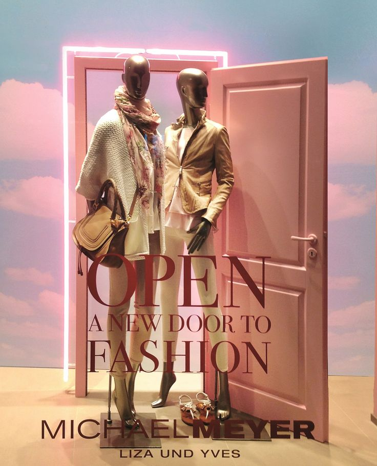 """MICHAEL MEYER, Bochum, Germany, """"Open a new door to fashion"""", creative by Form Factory, pinned by Ton van der Veer"""