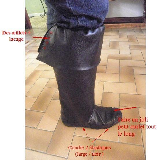 Les Fées Tisseuses :: [A nos pieds] Tuto sur-bottes (pirate/mousquetaire etc.)