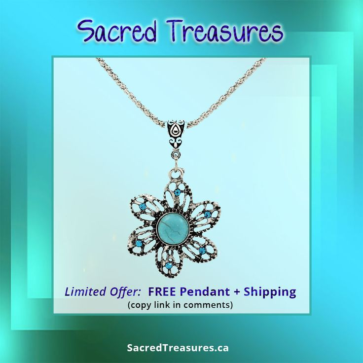 First 100 Only: Beautiful turquoise pendant FREE + shipping! (Canadian pricing)  Click here now: https://sacredtreasures.ca/products/free-best-selling-retro-bohemian-fine-sunflowers-turquoise-pendants #pendant #turquoisejewlery #crystaljewelry