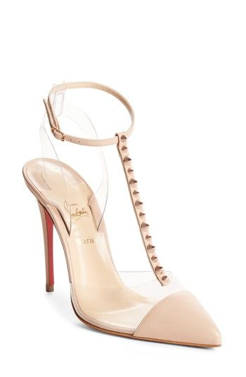53206892cb32 CHRISTIAN LOUBOUTIN NOSY SPIKES PVC PUMP.  christianlouboutin  shoes ...