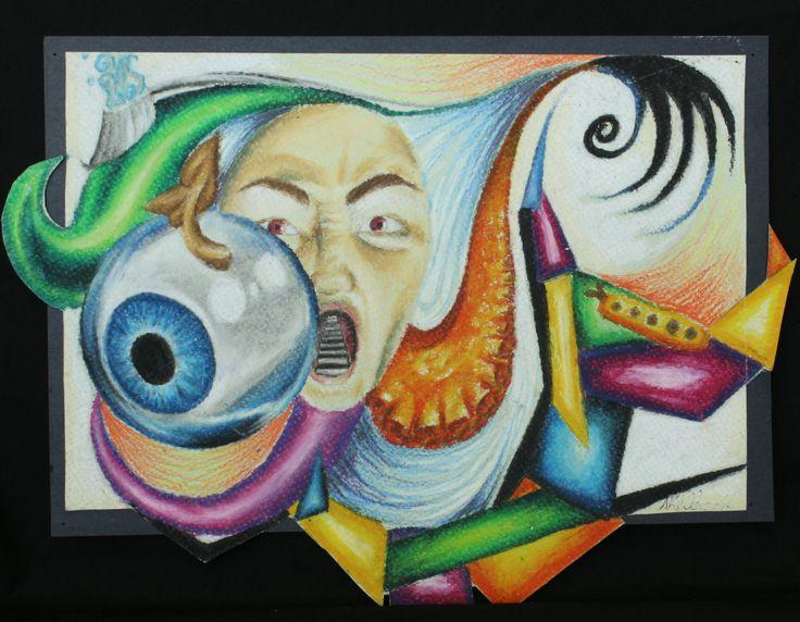 """""""Nightmare"""" #oil #pastel #art #drawing"""