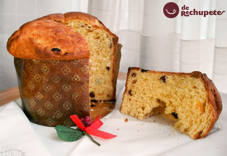 Cómo preparar un panettone de Navidad al estilo rechupete. Postre clásico en Italia. Una masa tipo brioche, pasas y frutas confitadas. Preparación paso a paso y fotos.