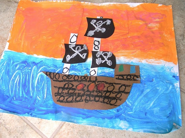 Arts and Crafts Pirate Ships