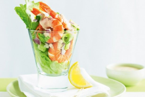 Choose fresh prawns, creamy avocado and crisp lettuce to create this retro cocktail starter.