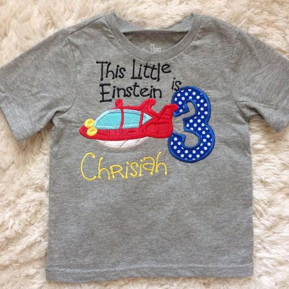 Little Einsteins birthday shirt by SewCreativeMommy on Etsy