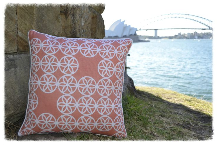 This gorgeous cushion compliments a wide variety of decors, bringing a splash of colour and a fresh summery feel to your home. #Peachy