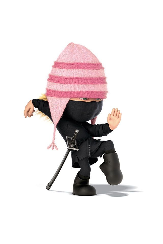 Ninja Edith  Minions  Halloween Costumes  Despicable Me 2  Pink Hats    Despicable Me 2 Edith Poster