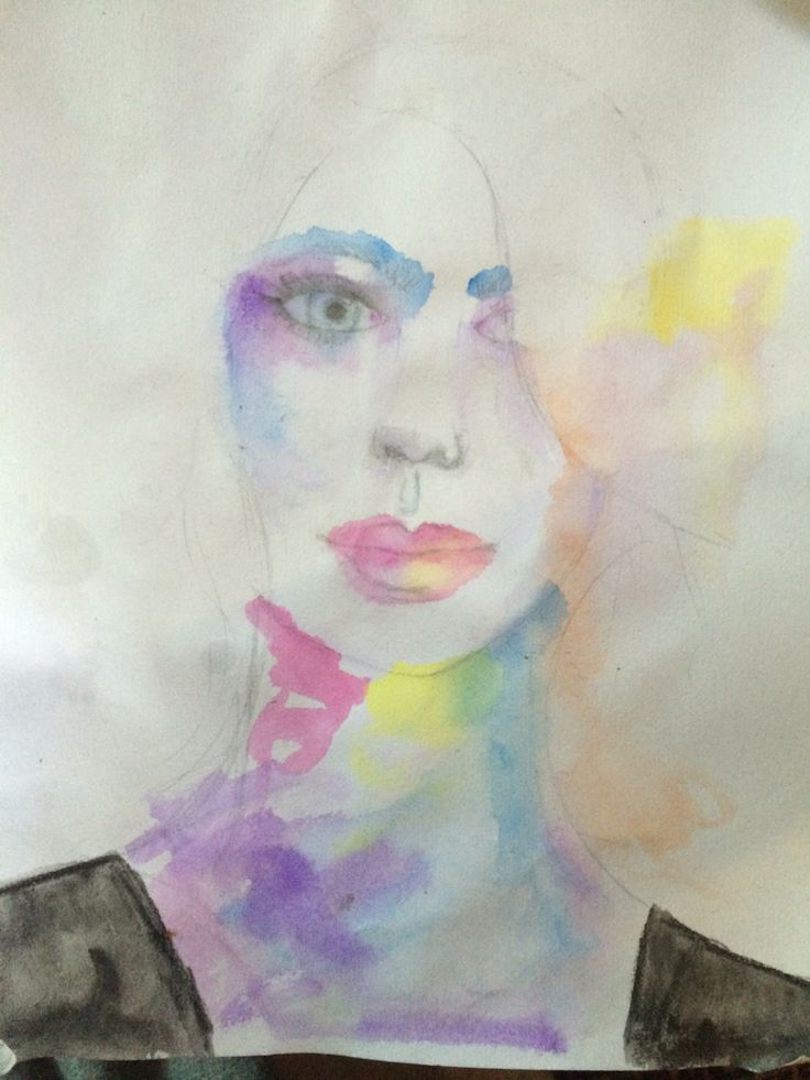 1st attempt water colour by S.Hughes ~ 29/03/16