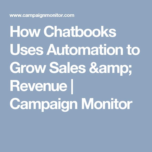 How Chatbooks Uses Automation to Grow Sales & Revenue | Campaign Monitor