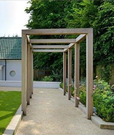 Simple Pergola Over A Driveway Google Search Outdoor