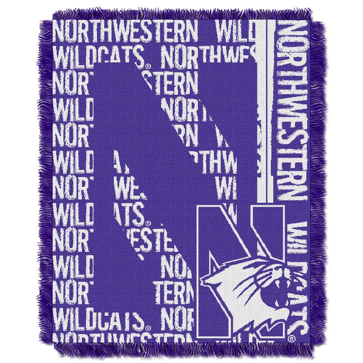 Northwestern College 48x60 Triple Woven Jacquard Throw - Double Play Series
