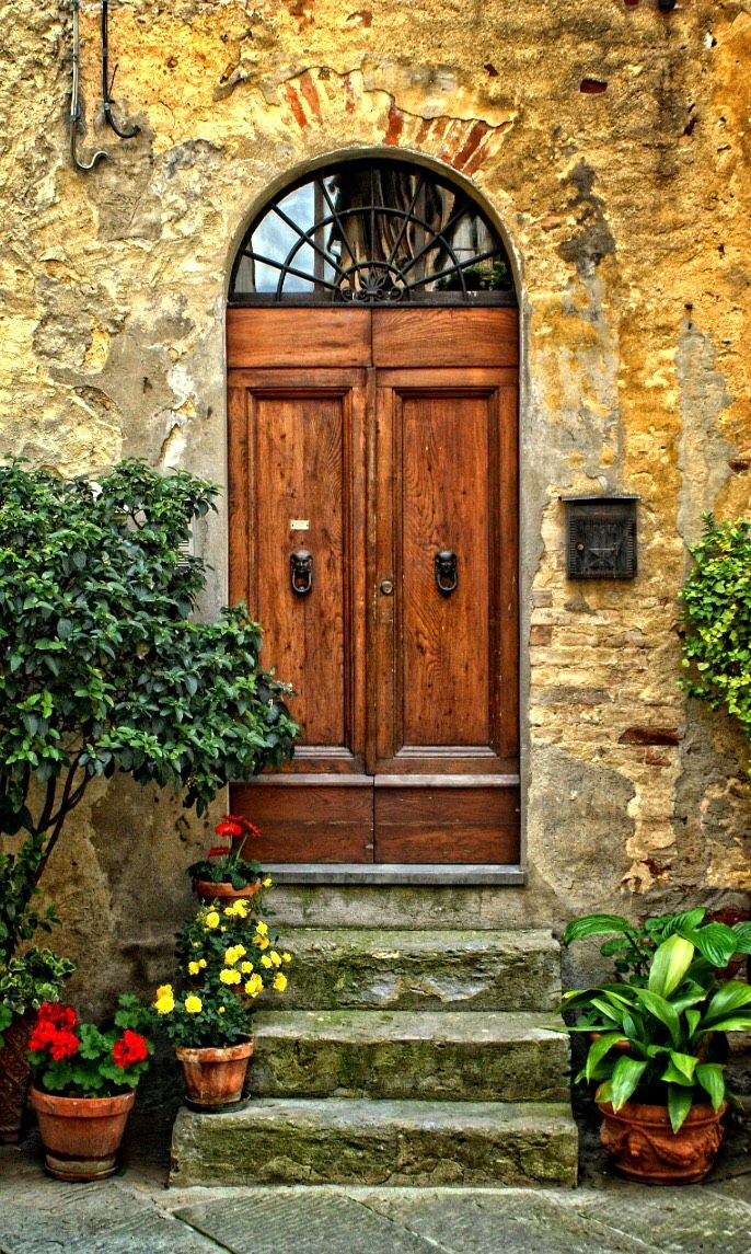 Picture of A door in the Tuscan region of Italy stock photo images and stock photography. & The 69 best Italian houses images on Pinterest | French doors ...