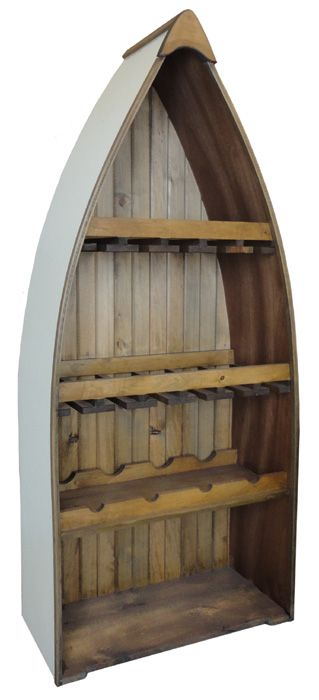 How cool is this for the cottage?  #332 Boat Wine Rack, with plenty of space for your bottles, glasses and accessories!