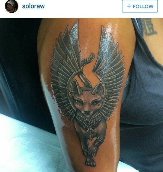 25 best ideas about egyptian cat tattoos on pinterest for Black kat tattoo