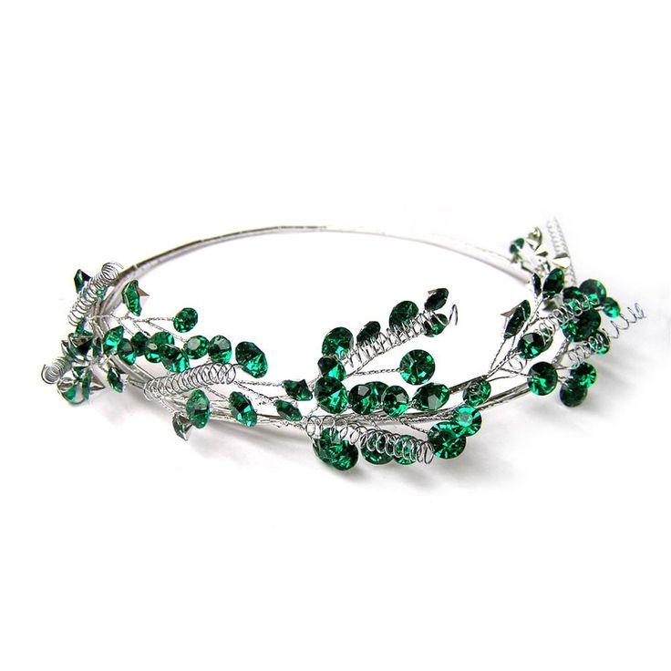 Green Bridal Hair Vine, Green Headpiece, Wedding Hair Accessories, Halo, Tiara, Accessories