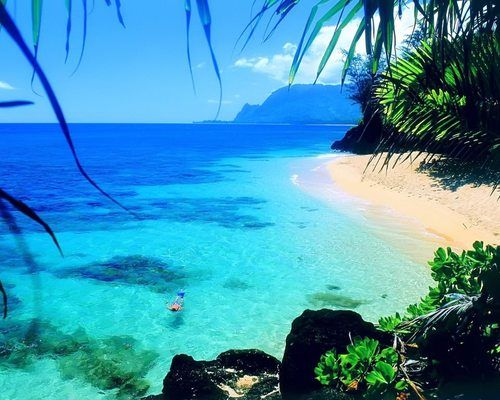 Tunnels Beach, Kauai | Hawaii - If we only could have done this when we were in Kauai...so nice!