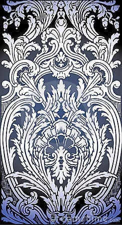 Illustration of Baroque pattern by Araraadt, via Dreamstime