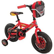 Boys 12 inch Huffy Disney Pixar Cars Bike with Vehicle Storage Case
