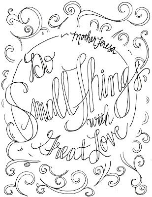 do small things with great love mother teresa quote coloring pages - Quote Coloring Pages