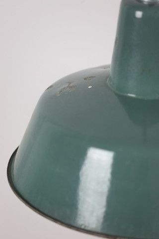 Enamelled vintage lamp