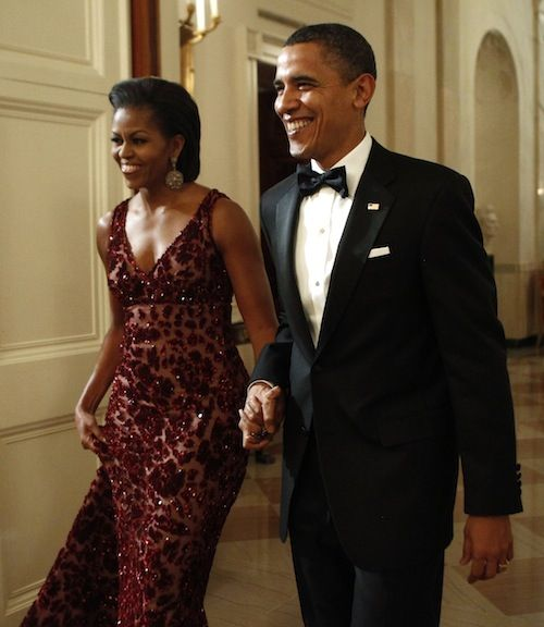 Michelle Obama, Kennedy Center Honors, wearing Naeem Khan