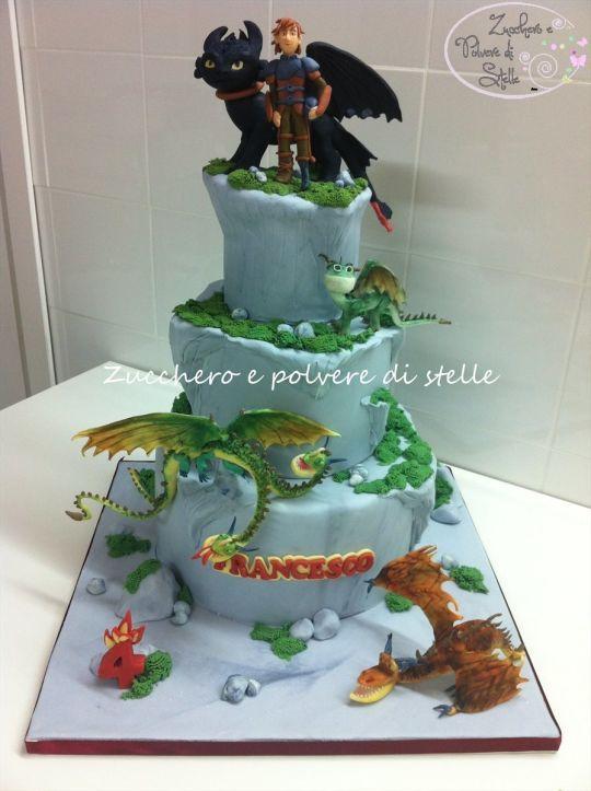 Dragon trainer cake