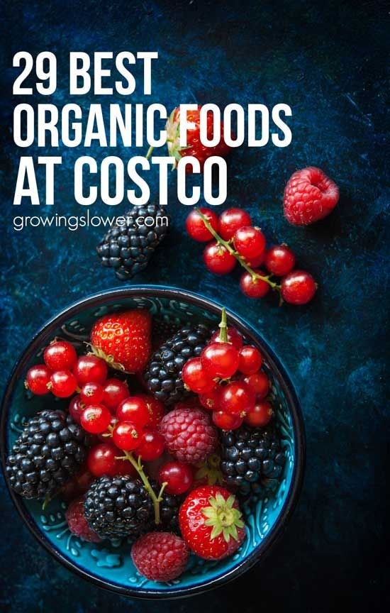 This Costco organic food list includes the best foods to buy at Costco. Don't forget to add them to your Costco shopping list to eat healthy and save money on groceries, too!