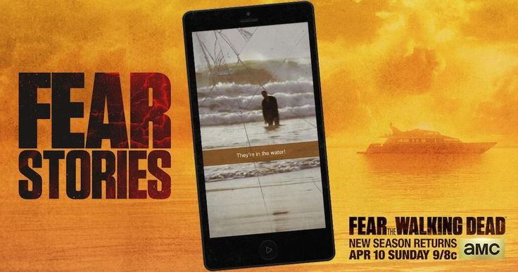 "Fear The Walking Dead: create your own Snapchat-style story - As a part of its extensive marketing push for ""Fear The Walking Dead's"" season two premiere on April 10th, AMC introduced 'Fear Stories', an interactive campaign that awards fans with personalized videos recapping their alleged trips to the infected city of Los Angeles, the setting of the series."
