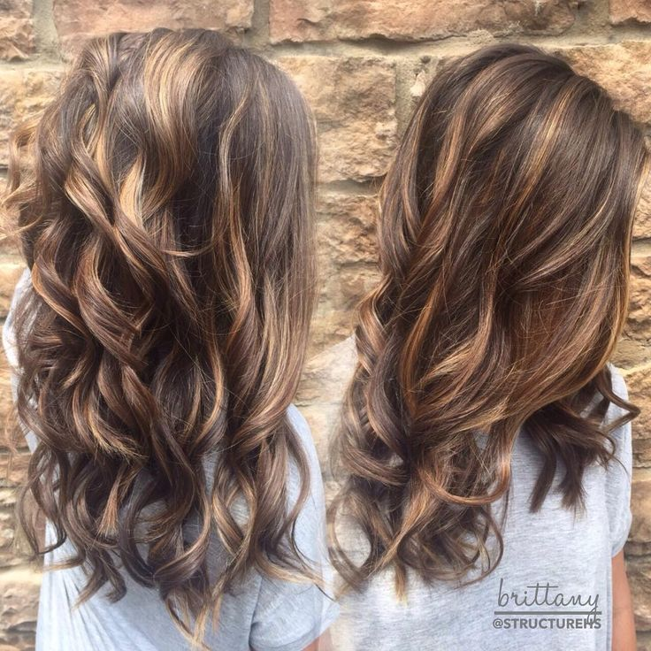 brown hair with caramel highlights-balayage