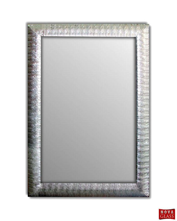 Καθρέπτης τοίχου με ασημί ξύλινη κορνίζα Νο 490
