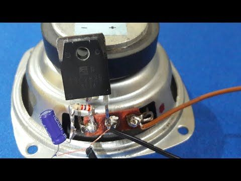 Simple Audio Amplifier (using single transistor) - YouTube