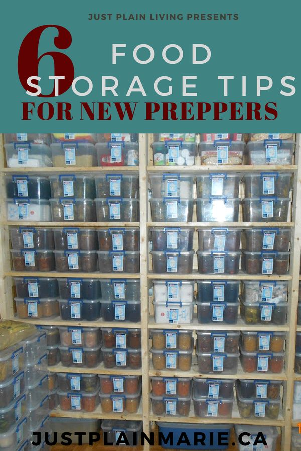 Food storage can seem overwhelming when starting, but here are a few tips to make it easier. #foodstorage #preparedness via @justplainmarie