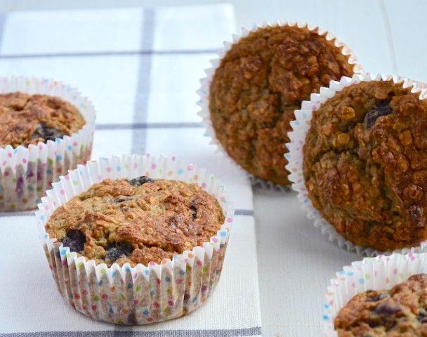 Gezonde muffins met havermout banaan en blauwe bessen Uit Paulines Keuken