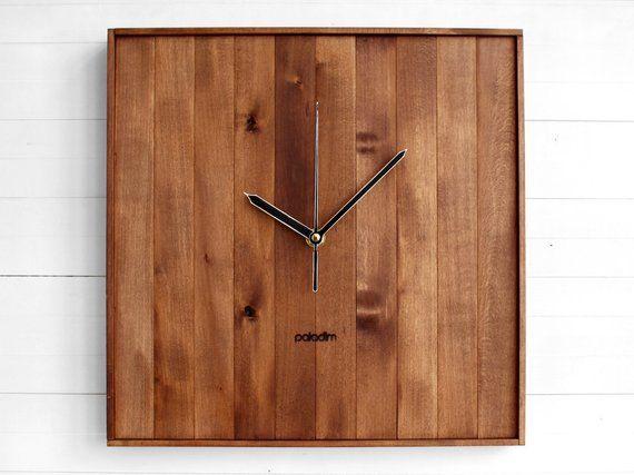 simple design clock living room clock rustic old Romb III minimal office clock wall clock geometric wall clock wooden wall clock