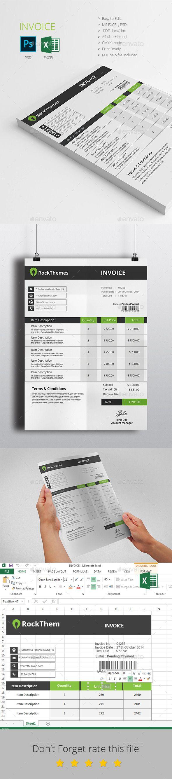 Invoice Design Tempalte Download httpgraphicrivernetiteminvoice 9 best