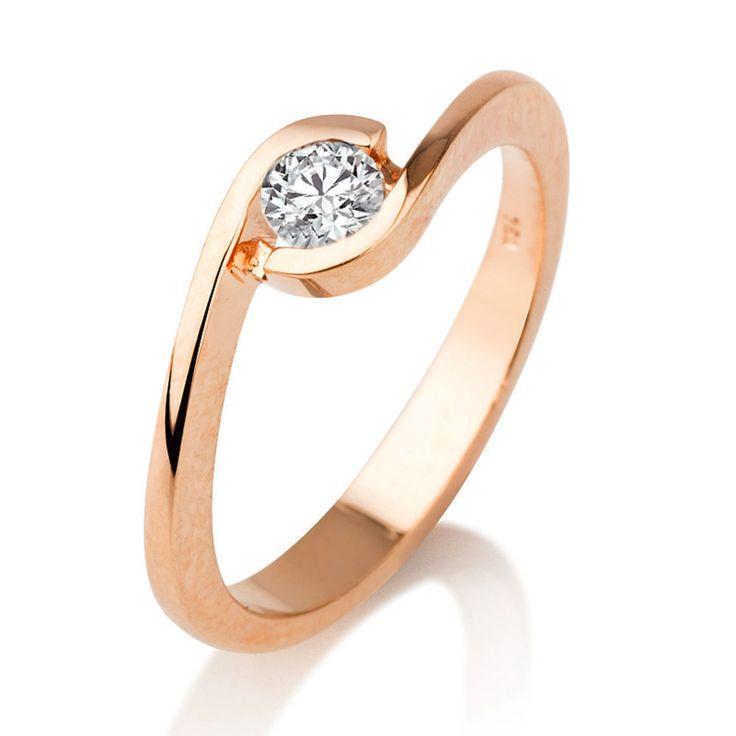 Verlobungsring in 585er Roségold - 0.50 Karat Solitär Diamant vom Juwelierhaus Abt in Dortmund günstig kaufen.  #diamantring #verlobung #rosegold #diamant #brillant #juwelier #abt #dortmund