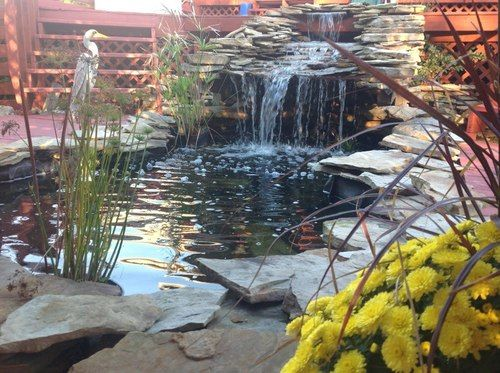 17 best images about ponds and fountains on pinterest for Garden pond overflow design