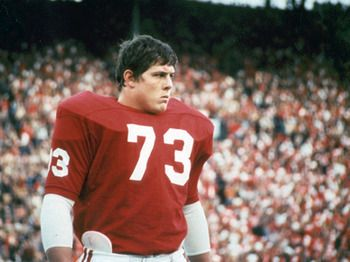 John Hannah, C; Greatest offensive lineman in football history; All American 1971 and 1972; Alabama All Century Team; College and Pro Hall of Fame; # 1 of Tide's top 50.