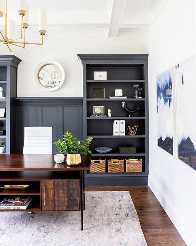 Simple, beautiful, thoughtfully layered; who else but @studiomcgee is designing an office like this? (Rug: Mirage) #TheLoloiLook #foothilldriveproject