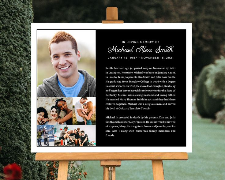 Funeral Poster Welcome Sign Picture Board 5 Photo Collage Etsy In 2021 Funeral Posters Funeral Program Template Memorial Program