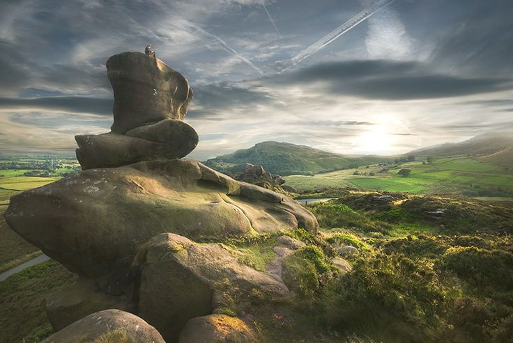 The Roaches in the Peak District, one of the best spots in England for rock climbing...