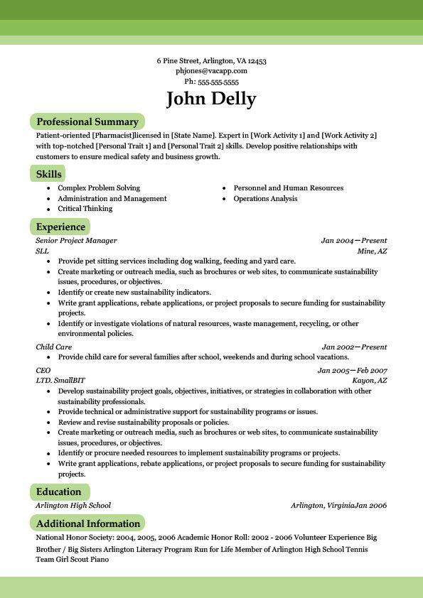 As 25 melhores ideias de Sample resume format no Pinterest - sample of resume