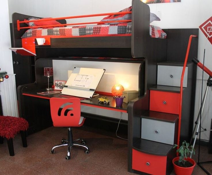 Cucheta con sistema swing cama escritorio s per funcional para espacios reducidos oficina - Escritorios espacios pequenos ...